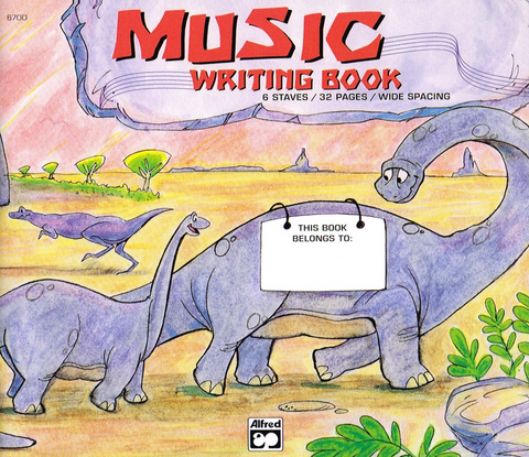Alfred's Basic Music Writing Book - Wide Lines, 32p Alfred Manuscript