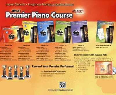 Premier Piano Course, Lesson 1A - Universal Edition - Dennis Alexander|E. L. Lancaster|Gayle Kowachykl|Martha Mier|Victoria McArthur - Piano Alfred Music /CD - Adlib Music
