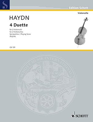 Four Duets - for two cellos - Joseph Haydn - Cello Schott Music Cello Duet