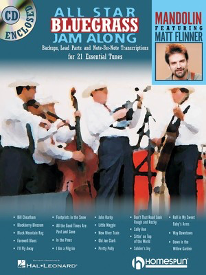 All Star Bluegrass Jam Along - For Mandolin - Mandolin Homespun /CD