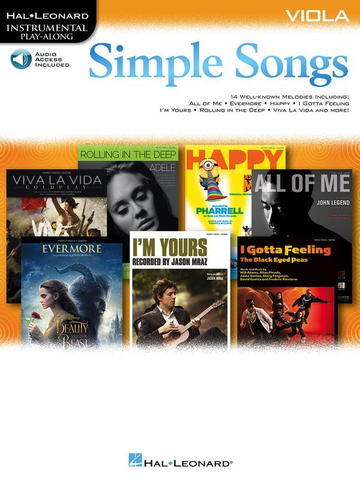 Simple Songs for Viola Book/Online Audio - Viola - Hal Leonard