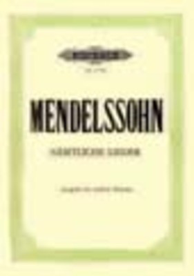 79 Songs - Medium Voice - Felix Bartholdy Mendelssohn - Classical Vocal Medium Voice Edition Peters Vocal Score
