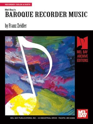 Baroque Recorder Music - Various - Recorder Mel Bay Recorder Duet