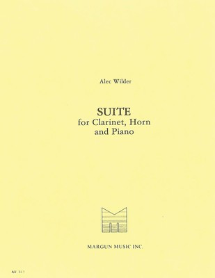 Suite for Clarinet, Horn and Piano - Alec Wilder - Clarinet|French Horn|Piano Margun Music Trio Score/Parts