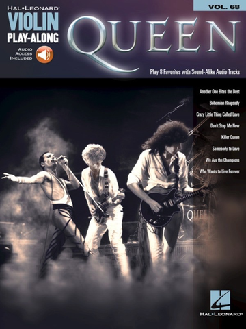 Queen Violin Play-along Volume 68 Book/Online Audio - Hal Leonard - Violin