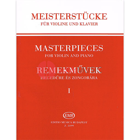 Masterpieces for Violin & Piano Volume 1 - EMB