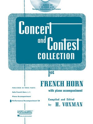 Concert and Contest Collection for French Horn - Accompaniment CD ONLY - Various - French Horn Rubank Publications CD-ROM ONLY