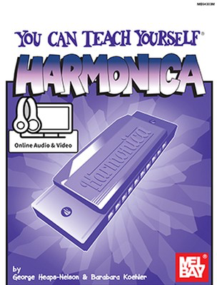 You Can Teach Yourself Harmonica - Book with Online Audio & Video - Harmonica George Heaps-Nelson|Barbara Koehler Mel Bay Sftcvr/Online Media
