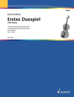 First Duets for Two Violins - 21 Easy Duets from the Classical Era - Various - Violin Schott Music Violin Duet