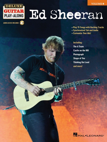 Ed Sheeran - Guitar - Deluxe Guitar Play-Along Volume 9 - Online Audio - Hal Leonard