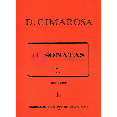 SONATAS VOL 1 FOR HARPSICHORD/PIANO SOLO - CIMAROSA - PIANO - BROEKMANS