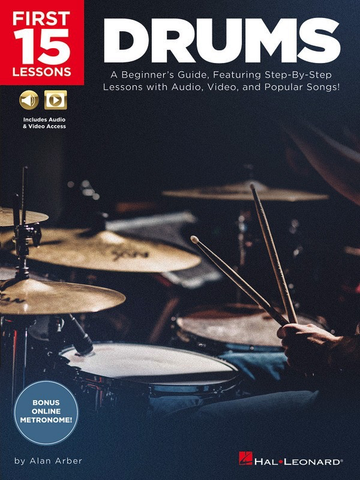 First 15 Lessons - Drums - Online Media - Hal Leonard
