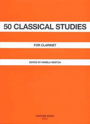 50 Classical Studies - for Clarinet - Clarinet Fentone Music Clarinet Solo - Adlib Music