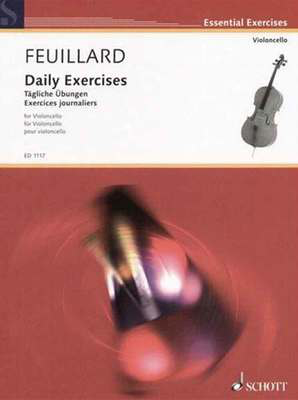 Daily Exercises - for Cello - Louis Feuillard - Cello Schott Music - Adlib Music