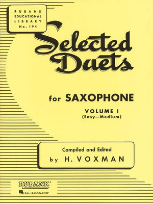 Selected Duets for Saxophone - Volume 1 - Easy to Medium - Various - Saxophone Rubank Publications Saxophone Duet