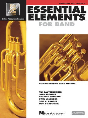 Essential Elements for Band - Book 2 with EEi - Baritone B.C. - Baritone|Euphonium Charles Menghini|Donald Bierschenk|John Higgins|Paul Lavender|Tim Lautzenheiser|Tom C. Rhodes Hal Leonard /CD - Adlib Music