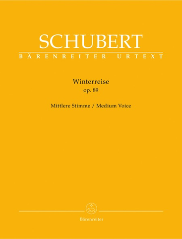 Winterreise Op. 89 D 911 - Medium Voice - Schubert - Barenreiter