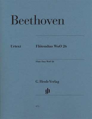 Flute Duo WoO 26 - for Two Flutes - Ludwig van Beethoven - Flute G. Henle Verlag Flute Duet
