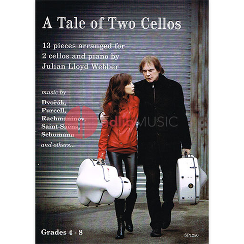 A TALE OF 2 CELLOS FOR 2 VC/PIANO - LLOYD WEBBER - CELLO - SPARTAN PRESS