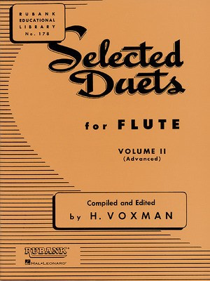 Selected Duets for Flute - Volume 2 - Advanced - Flute Rubank Publications Flute Duet - Adlib Music