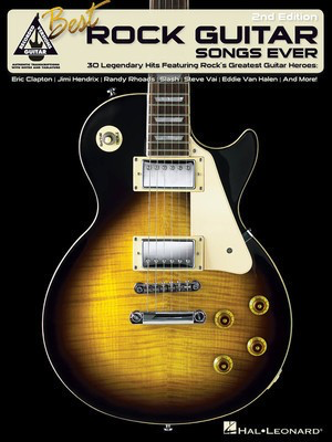 Best Rock Guitar Songs Ever - 2nd Edition - Guitar Hal Leonard Guitar TAB with Lyrics & Chords - Adlib Music