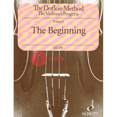 The Doflein Method Volume 1 - The Beginning - Violin - Elma Doflein|Erich Doflein - Schott Music