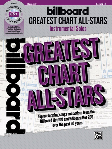 Billboard Greatest Chart All-Stars Instrumental Solos - Horn in F - Book/CD - Alfred