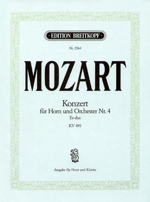 Concerto No.4 in Eb major K.495 - Edition for Horn and Piano - Wolfgang Amadeus Mozart - French Horn Breitkopf & Hartel