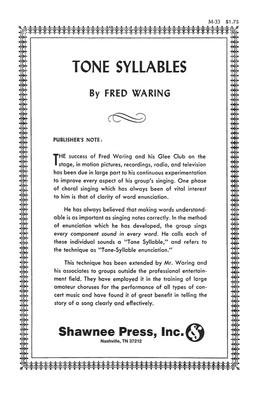 Tone Syllables Method - Fred Waring Shawnee Press