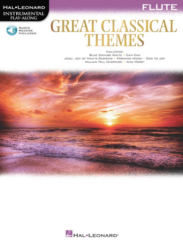 Great Classical Themes - Flute Instrumental Play-Along Book with Online Audio - Various - Hal leonard