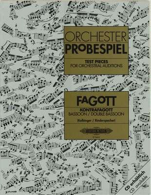 Test Pieces for Orchestral Auditions - Bassoon edited by Kolbinger/Rindersp Peters P8662