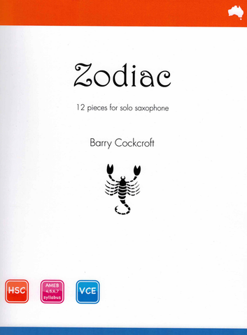 Zodiac - Barry Cockcroft - 12 Pieces for Solo Saxophone - Reed Music