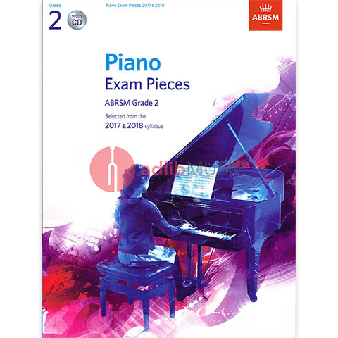 ABRSM Piano Exam Pieces Gr 2 2017-2018 Book/CD - ABRSM - ABRSM