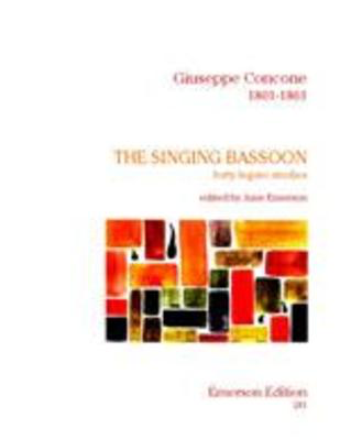 The Singing Bassoon - Forty Legato Studies Op. 17 - Giuseppe Concone - Bassoon Emerson Edition