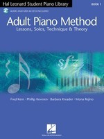Adult Piano Method Book 1 - Book with Audio Online - Hal Leonard Student Piano Library Adult Piano Method - Piano Barbara Kreader|Fred Kern|Mona Rejino|Phillip Keveren Hal Leonard /CD - Adlib Music
