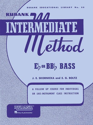 Rubank Intermediate Method for Bass/Tuba - Tuba Rubank Publications