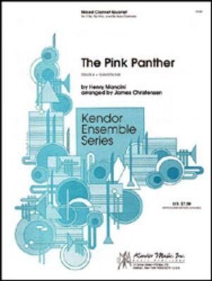 Pink Panther, The - 2 Bb Clarinets, Alto and Bass Clarinets - Henry Mancini / Christensen - Eb Alto Clarinet|Bb Clarinet|Bass Clarinet Kendor Music Clarinet Quartet Score/Parts