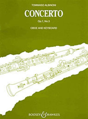 Concerto Bb Major Op. 7/3 - Tomaso Albinoni - Oboe & Piano Reduction - Boosey & Hawkes