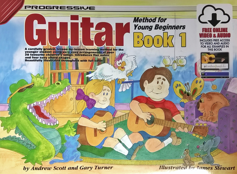 Progressive Guitar Method for Young Beginner Book 1 Book/Online Video &