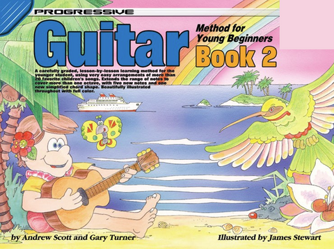 Progressive Guitar Method For Young Beginners Book 2 Book/Online Video & Audio - Turner Scott - Koala Publications