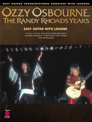 Ozzy Osbourne - The Randy Rhoads Years - Easy Guitar Transcriptions Complete with Lessons - Guitar Cherry Lane Music Easy Guitar with Notes & TAB