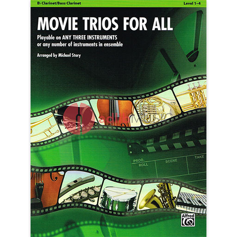 Movie Trios for All - Clarinet - Various - Michael Story - Alfred Music