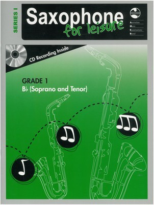 Saxophone For Leisure Grade 1 B Flat Bk/Cd Ser 1 - Soprano Saxophone|Tenor Saxophone AMEB /CD - Adlib Music