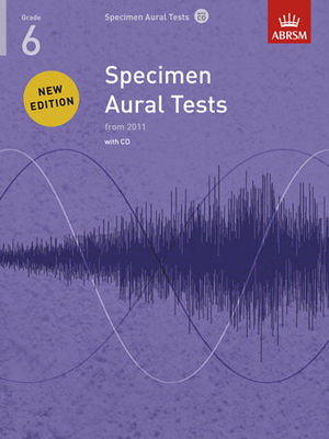 Specimen Aural Tests, Grade 6 with CD - new edition from 2011 - ABRSM - ABRSM /CD - Adlib Music