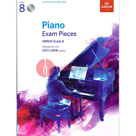 ABRSM Piano Exam Pieces Gr 8 2017-2018 Book/CD - ABRSM - ABRSM