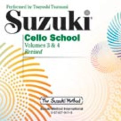Suzuki Cello School CD, Volume 3 & 4 - Cello Summy Birchard CD
