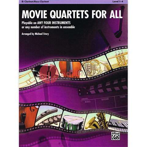 Movie Quartets for All - Clarinet Quartet by Story Alfred 33539