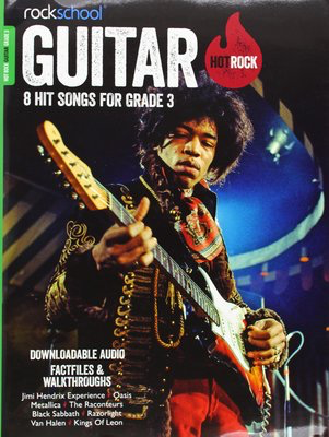 AMEB Rockschool: Hot Rock Guitar - Grade 3 - 8 Hit Songs for Grade 3 - Guitar Rock School Limited Sftcvr/Online Audio
