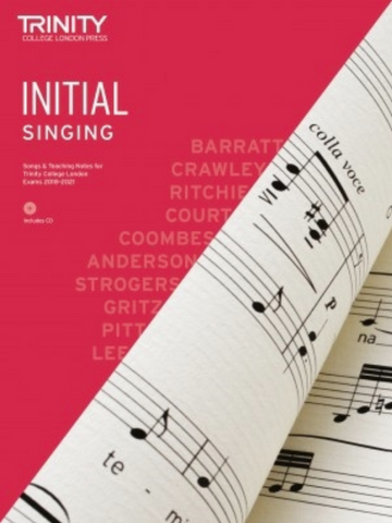 Trinity Singing Initial Grade 2018 (with CD & teaching notes)