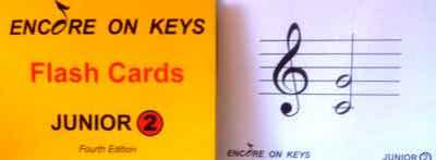 Encore On Keys - Junior Series 2 Flash Cards - Piano Mark Gibson|Morna Robinson Accent Publishing Flash Cards
